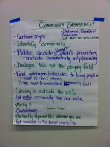 flipchart of Mental Models of Community Engagement