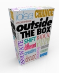 Outside the Box Words on Product Package Innovation