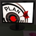 Plan On Monitor Shows Expectations And Objectives